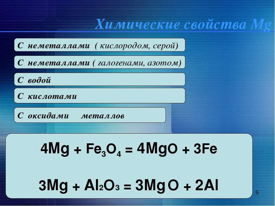 * 2Mg + O2 = 2MgO t Mg + S = Mg S C неметаллами ( кислородом, серой) Mg+ Cl2 ...