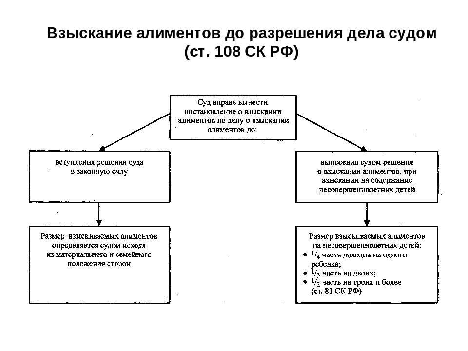 особенности исполнения документов о взыскании алиментов частенько