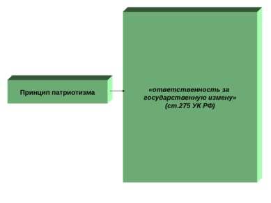 Принцип патриотизма «ответственность за государственную измену» (ст.275 УК РФ)