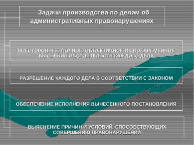 Задачи производства по делам об административных правонарушениях ВСЕСТОРОННЕЕ...