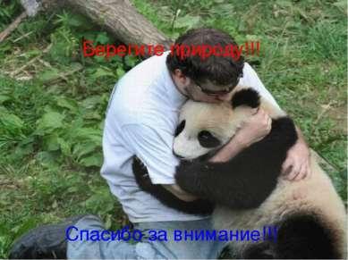 Берегите природу!!! Спасибо за внимание!!!