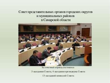 За отчетный период состоялось 3 заседания Совета, 4 заседания президиума Сове...