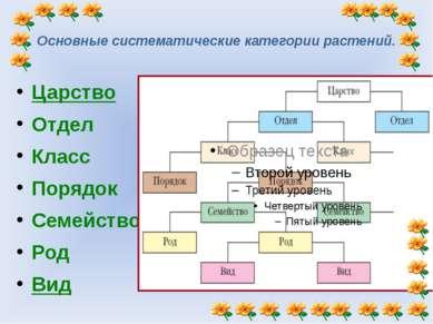 Таксономическое описание вида. Царство Отдел Класс Порядок Семейство Род Вид ...