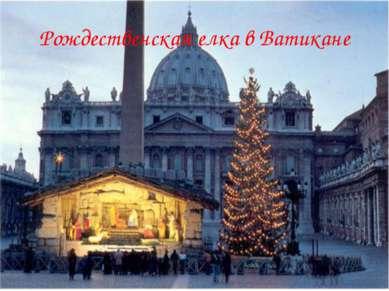 Рождественская елка в Ватикане