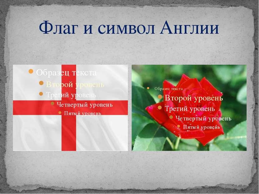 Флаг и символ Англии