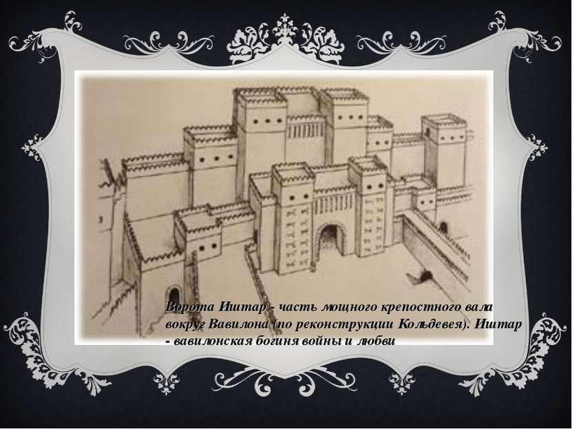 ВОРОТА ИШТАР Однажды при раскопках Кольдевей наткнулся на какие-то своды. Они...