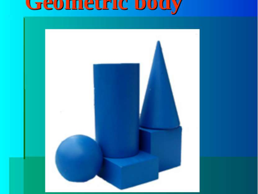 "Geometric body The word ""body"""