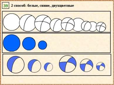 39 2 способ: белые, синие, двухцветные