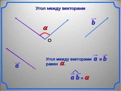 О Угол между векторами