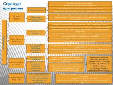Структура программы Программа Целевой раздел Содержательный раздел Организаци...