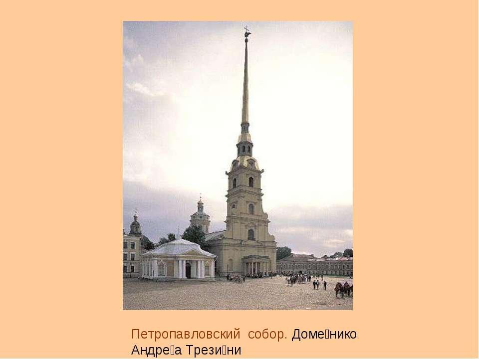 Петропавловский собор. Доме нико Андре а Трези ни