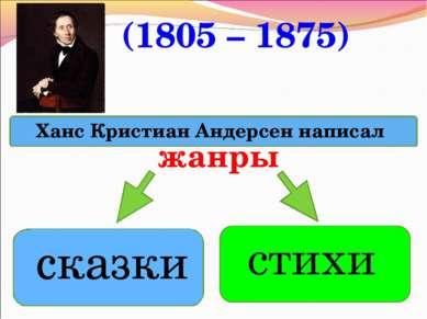 жанры (1805 – 1875)