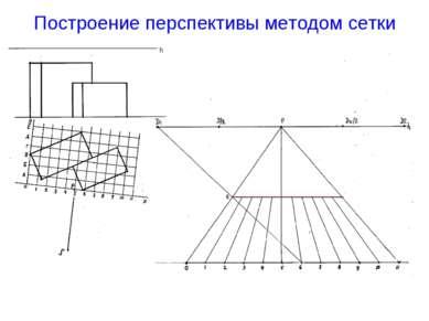 Построение перспективы методом сетки h