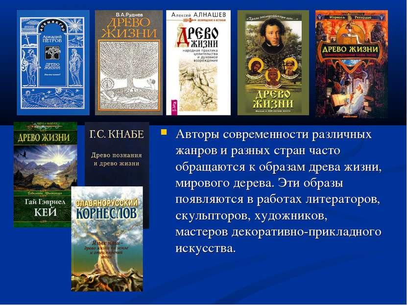 Авторы современности различных жанров и разных стран часто обращаются к образ...