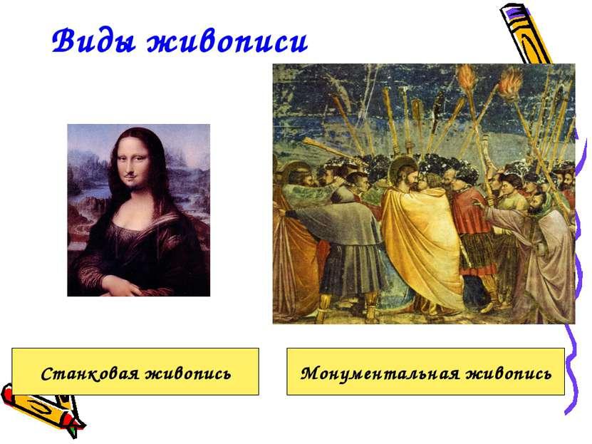 Виды живописи Станковая живопись Монументальная живопись