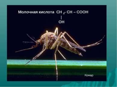 Молочная кислота СН 3- СН – СООН | ОН Комар