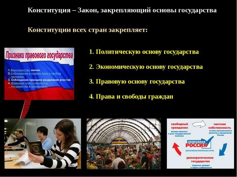 Конституция – Закон, закрепляющий основы государства Конституции всех стран з...
