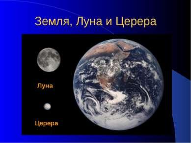 Земля, Луна и Церера Церера Луна