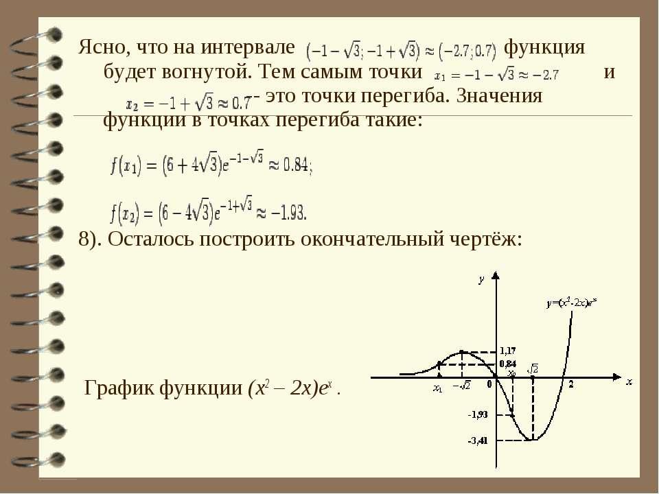 Ясно, что на интервале функция будет вогнутой. Тем самым точки и  -- это точ...