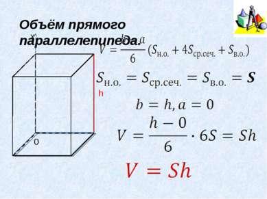 Объём прямого параллелепипеда. h