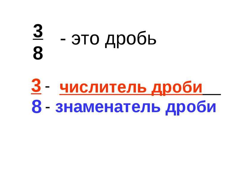 3 8 8 - знаменатель дроби числитель дроби - это дробь 3