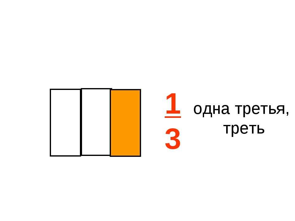 1 3 одна третья, треть