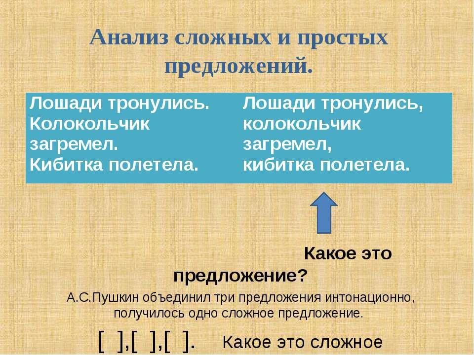 Анализ сложных и простых предложений. Какое это предложение? А.С.Пушкин объед...