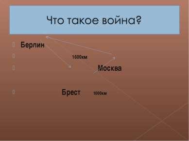 Берлин 1600км Москва Брест 1000км