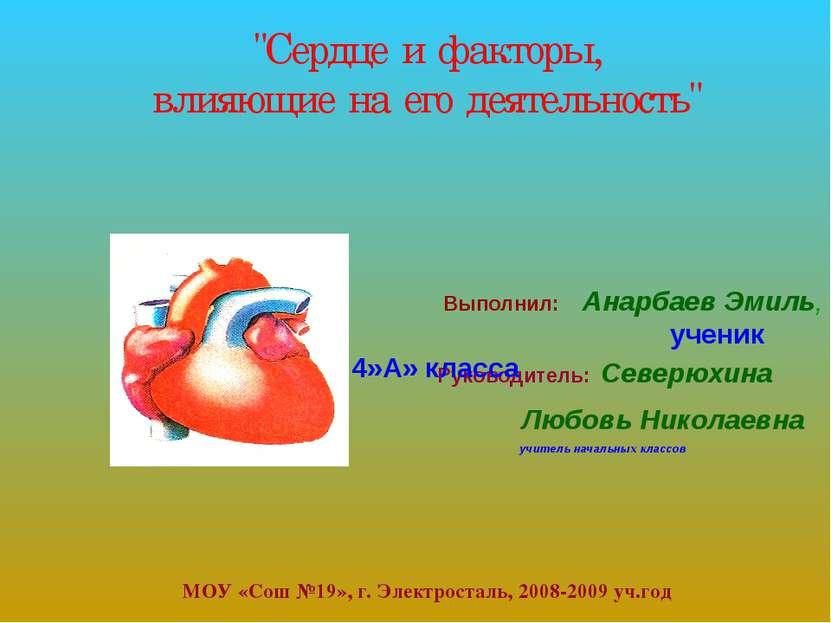 Руководитель: Северюхина Любовь Николаевна учитель начальных классов МОУ «Сош...