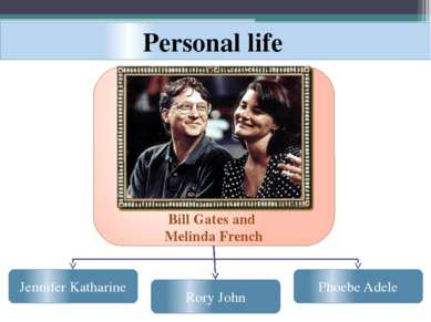 Personal life Bill Gates and Melinda French Phoebe Adele Rory John Jennifer K...