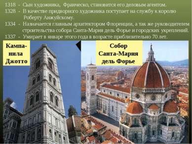 1318 - Сын художника, Франческо, становится его деловым агентом. - В качестве...