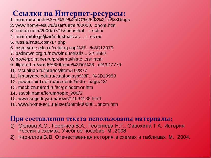 Ссылки на Интернет-ресурсы: 1. nnm.ru/search%3Fq%3D%25D0%2598%2...n%3Dtags 2....
