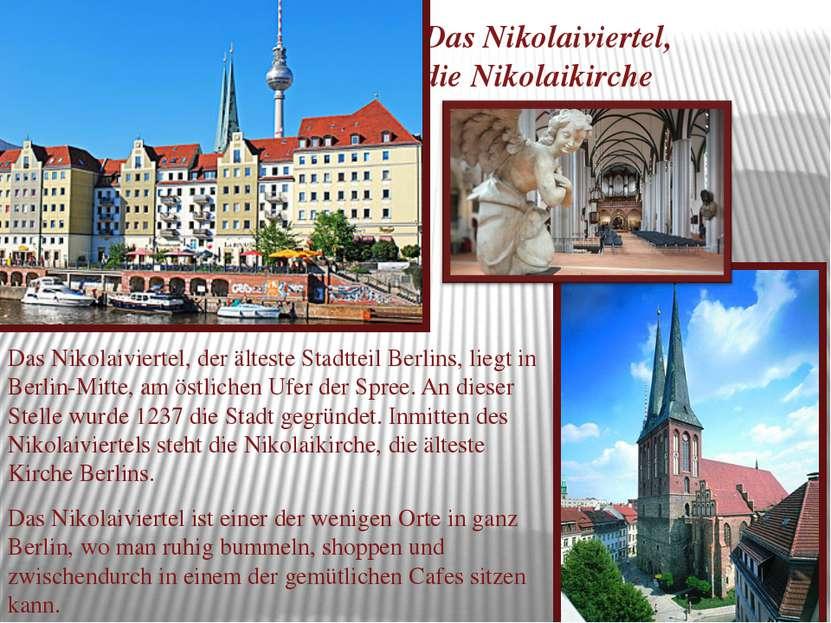 Das Nikolaiviertel, die Nikolaikirche Das Nikolaiviertel, der älteste Stadtte...