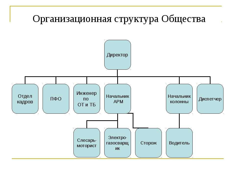 Организационная структура Общества