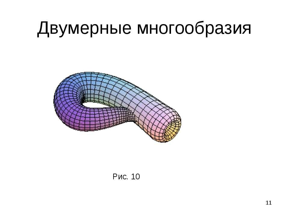 * Двумерные многообразия Рис. 10