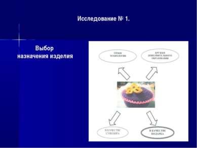 Исследование № 1. В КАЧЕСТВЕ ПОА Выбор назначения изделия