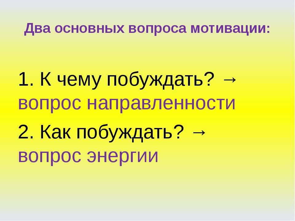 Формирование мотивации учения Смысл учения Мотив учения Постановка целей Эмоц...