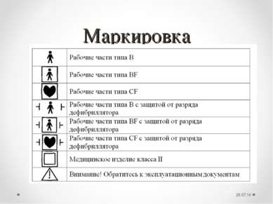Маркировка *