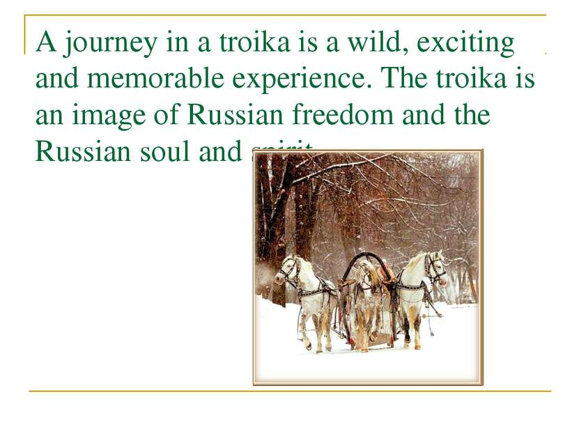 A journey in a troika is a wild, exciting and memorable experience. The troik...