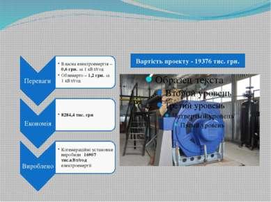Вартість проекту - 19376 тис. грн.