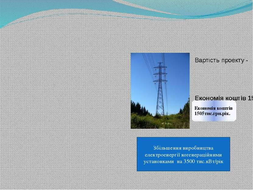 Збільшення виробництва електроенергії когенераційними установками на 3500 тис...