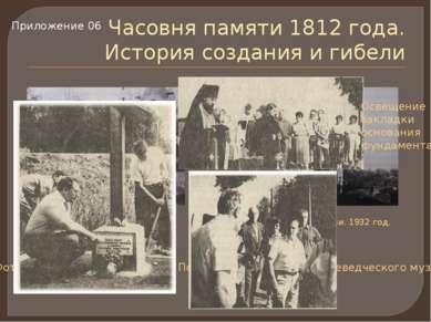 Часовня памяти 1812 года. История создания и гибели Часовня памяти 1812 года ...