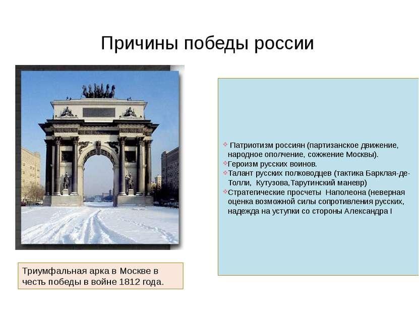 Патриотизм россиян (партизанское движение, народное ополчение, сожжение Москв...
