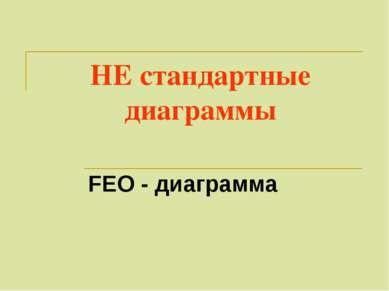 НЕ стандартные диаграммы FEO - диаграмма
