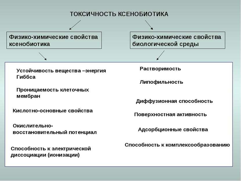 ТОКСИЧНОСТЬ КСЕНОБИОТИКА Адсорбционные свойства Физико-химические свойства би...