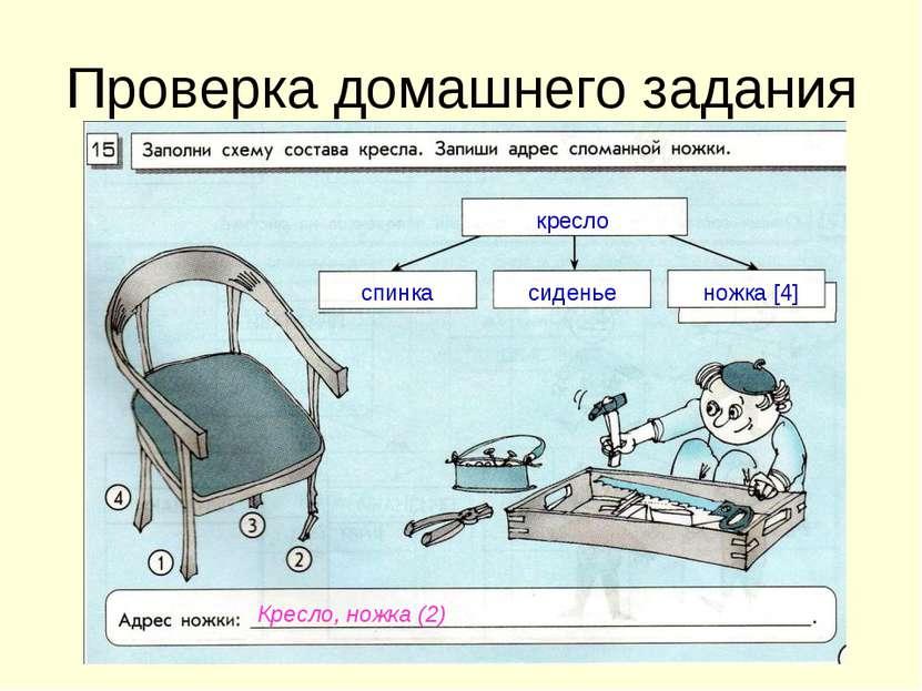 Проверка домашнего задания кресло спинка сиденье ножка [4] Кресло, ножка (2)