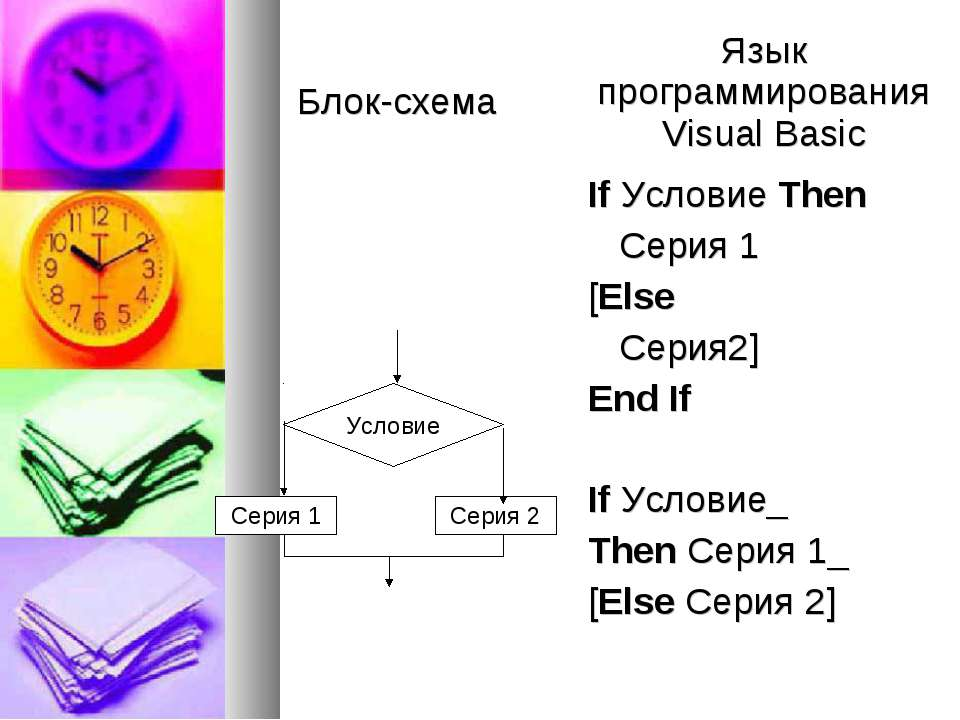 Visual Basic If Условие