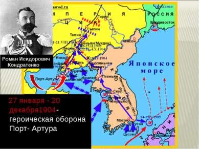 27 января - 20 декабря1904- героическая оборона Порт- Артура Роман Исидорович...