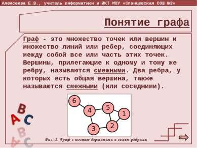 Граф - это множество точек или вершин и множество линий или ребер, соединяющи...