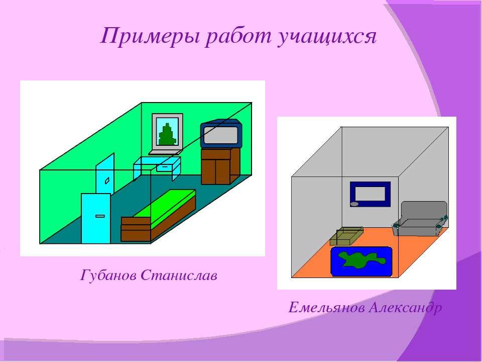 Примеры работ учащихся Губанов Станислав Емельянов Александр